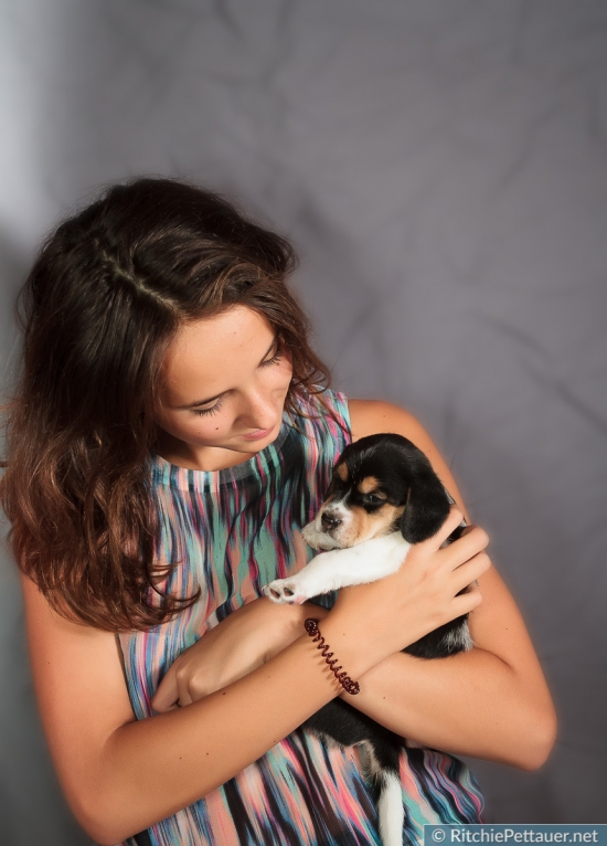 Lola mit Pula-Dogs Welpen